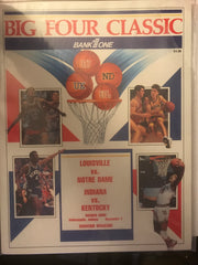 1989 Big Four Classic Program, Hoosier Dome, Indiana, Kentucky, Louisville, Notre Dame
