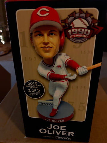 Joe Oliver Cincinnati Reds Hall of Fame Bobblehead