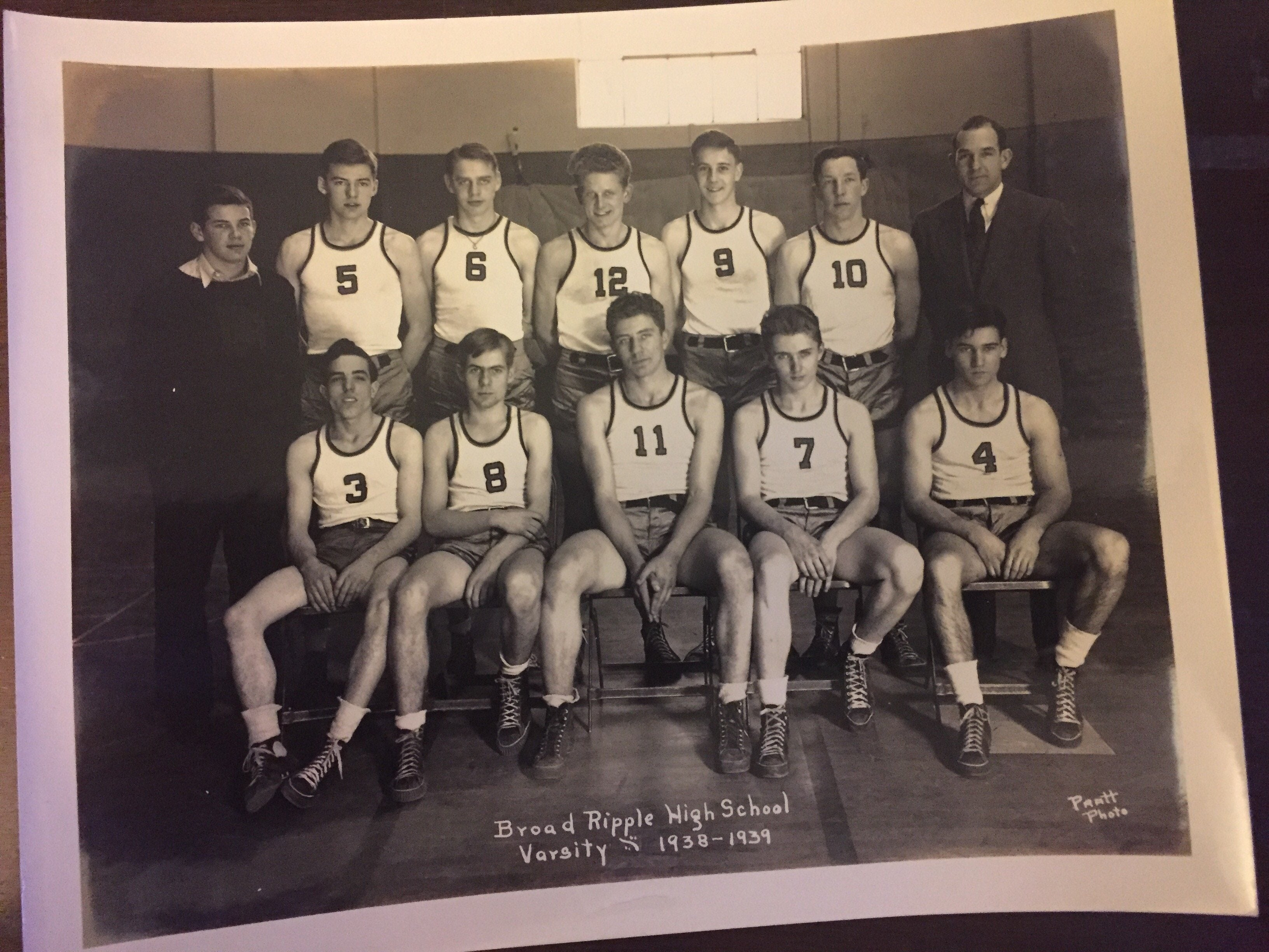 1938-39 Broad Ripple, Indiana High School Basketball Team Photo - Vintage Indy Sports