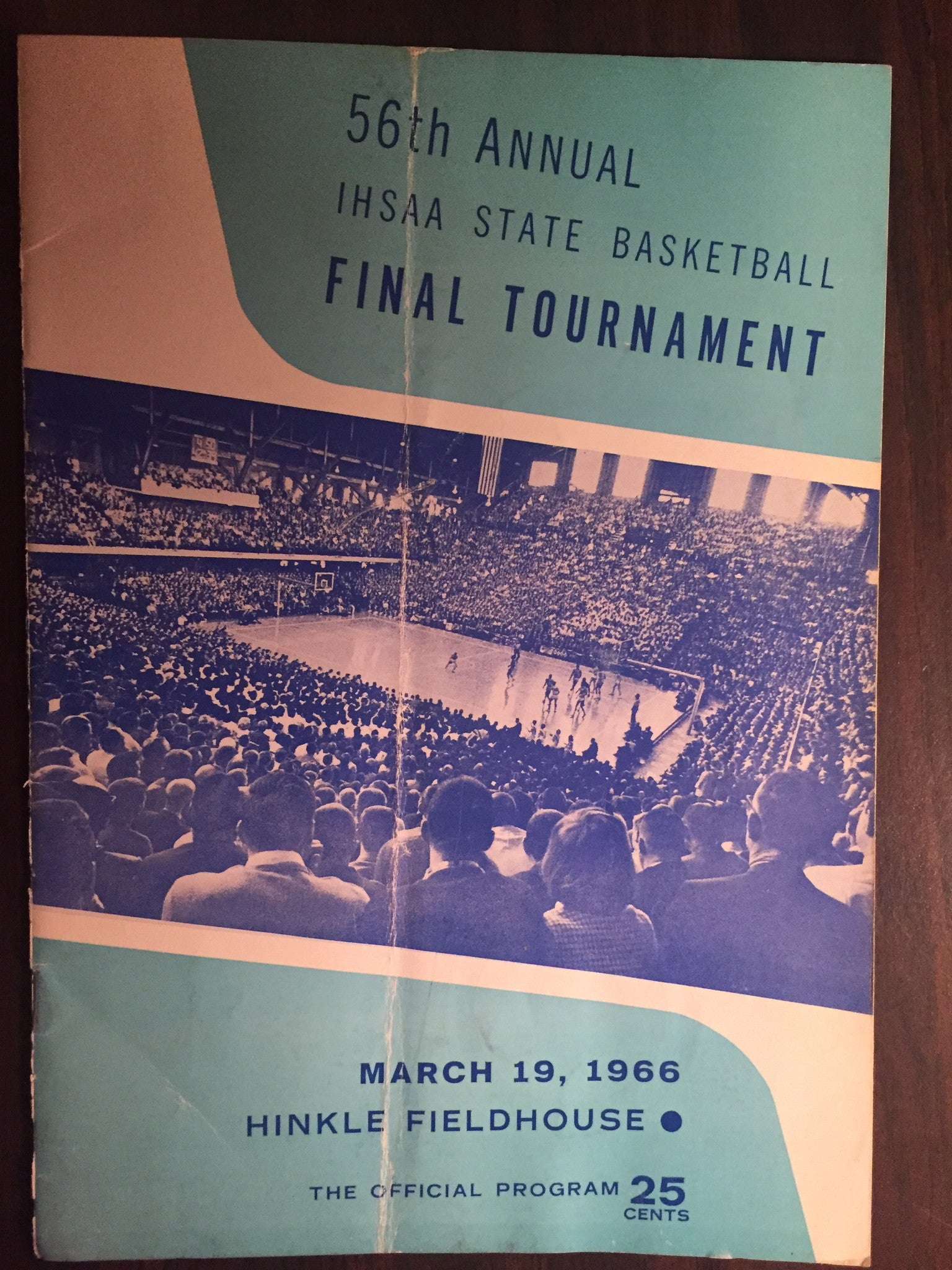 1966 Indiana High School Basketball State Finals Program - Vintage Indy Sports