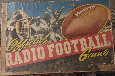 1939 Vintage Official Radio Football Board Game