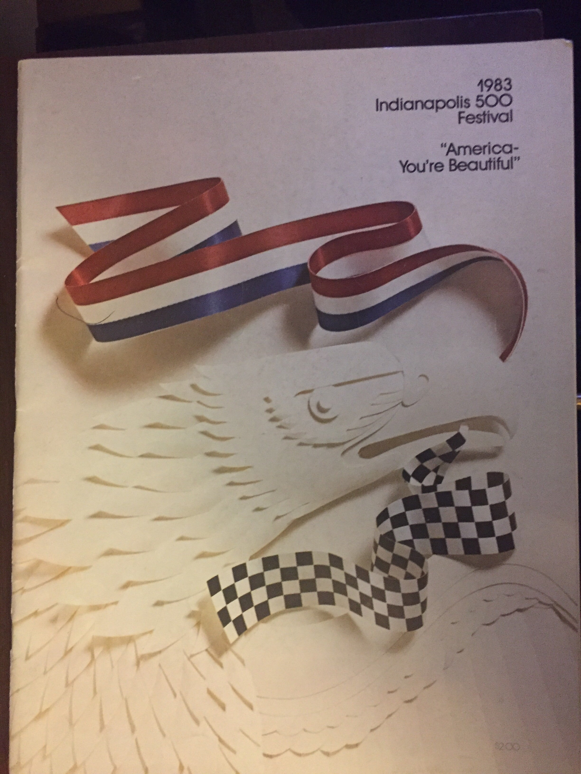 1983 Indianapolis 500 Festival Parade Program - Vintage Indy Sports