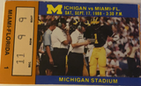 1988 Miami Fl at Michigan Football Ticket Stub