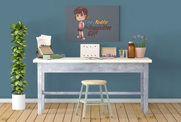 Cindy Rodifer: The Inquisitive Girl! Canvas Print