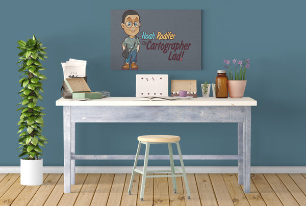 Noah Rodifer: The Cartographer Lad! Canvas Print