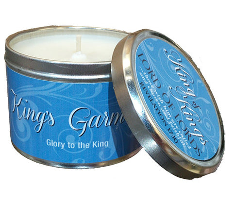 Candle Tin King's Garments Scripture