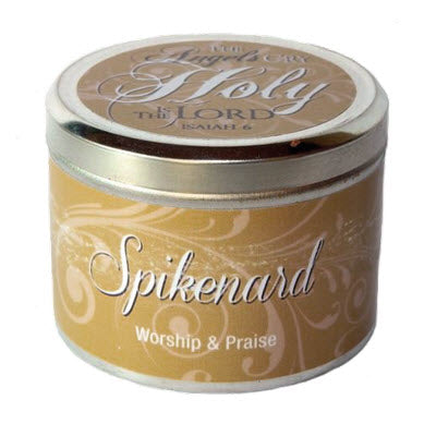 Candle Tin Spikenard Scripture