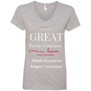 Greatness Lies Within V-Neck T-Shirt