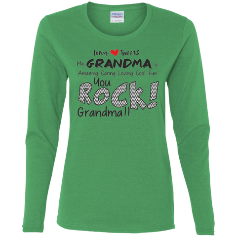 Grandma Rocks LS T-Shirt