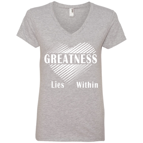 Greatness Within Ladies' V-Neck T-Shirt