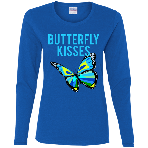 Butterfly Kisses Ladies' LS T-Shirt