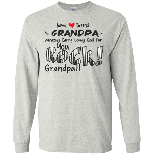 Grandpa Rocks Christmas Gift LS T-Shirt
