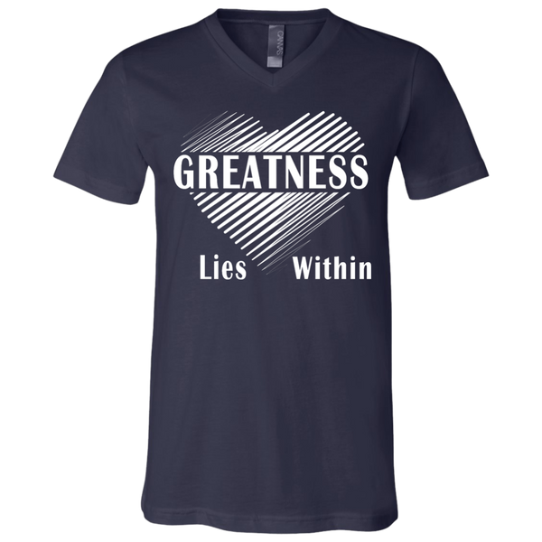 Greatness Within Jersey V-Neck T-Shirt