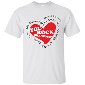 Grandma Rocks Red Heart T-Shirt