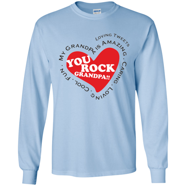 Grandpa Rocks Christmas Gift T-Shirt Heart