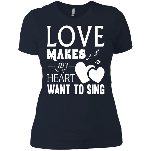Heart Sing Ladies' Boyfriend T-Shirt