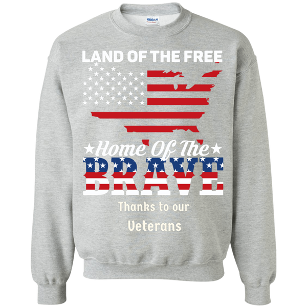 Honoring Our Veterans Crewneck Pullover Sweatshirt