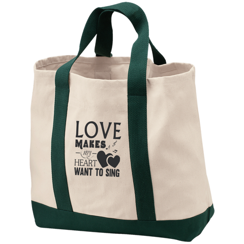 Heart Sing Canvas Tote