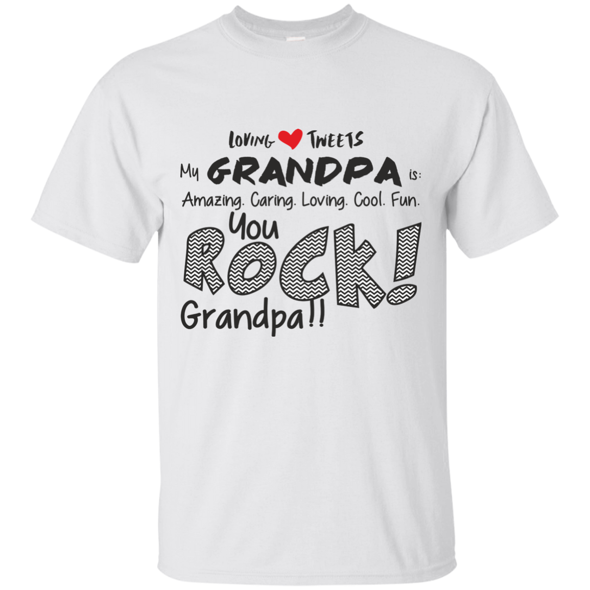 Grandpa Rocks Cotton T-Shirt