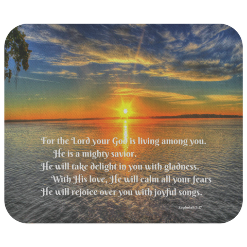 God Delights in You Mousepad