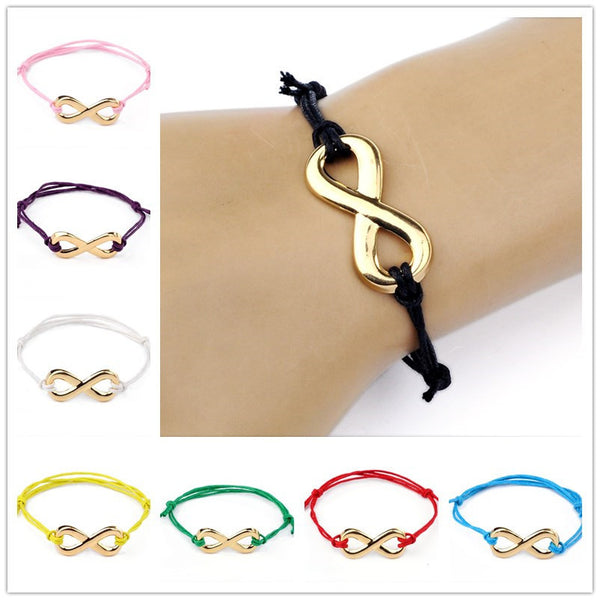 Sistergirls4Life.com -  Infinity Charm Collection - Infinity Bracelet with Gold Infinity Charm - SisterGirls4Life.com
