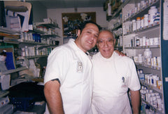 Gaspar and his son John, both pharmacists and owners of HB Pharmacy.