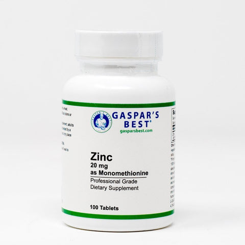 Gaspar's Best Zinc 20mg (as Monomethionine)