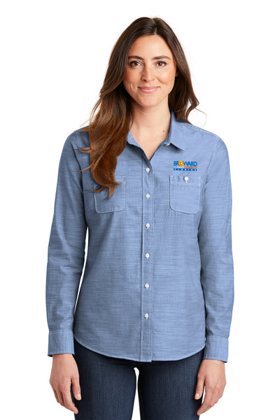 Ladies Slub Chambray Shirt