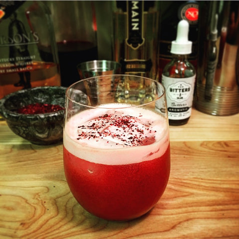 Hibiscus Whiskey Sour