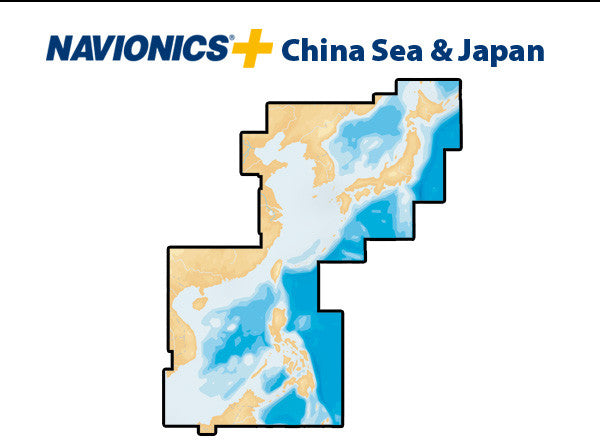 Navionics Plus China Sea and Japan