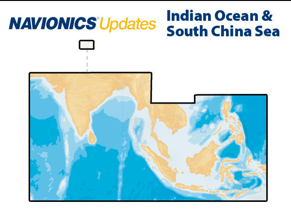 Navionics Updates Indian Ocean and South China Sea