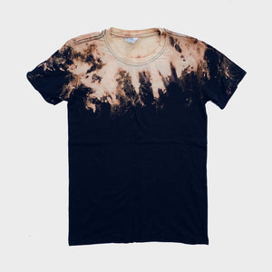 Acid Burned Tie Dye T-shirt (Neck)