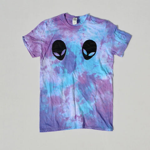 Alien Boobs Purple/Blue Tie Dye T-shirt