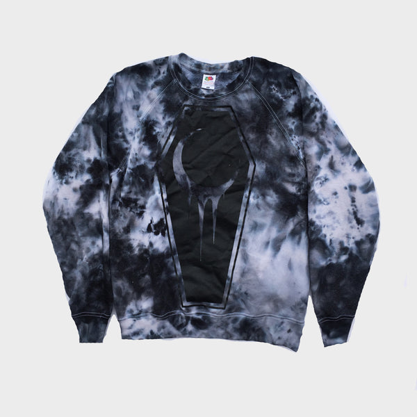 Crescent Coffin Grey Tie Dye Sweatshirt