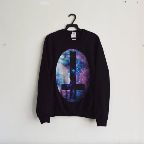 Cosmic Cross Patch Sweatshirt