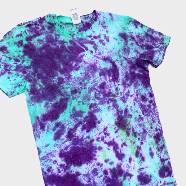 Purple/Green Tie Dye T-shirt