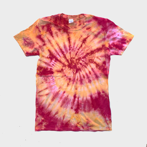 Red/Yellow Spiral Tie Dye T-shirt