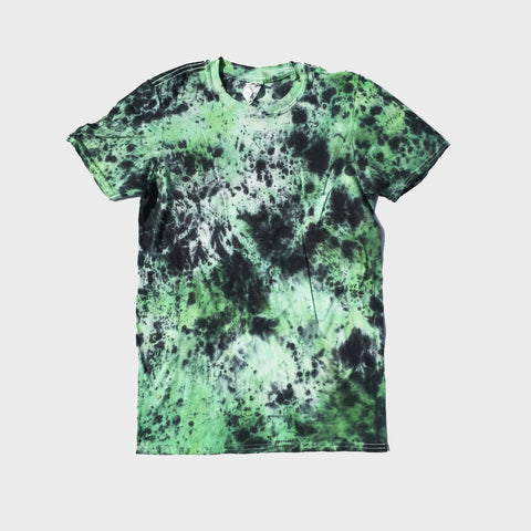 Plain Green/Black Tie Dye T-shirt