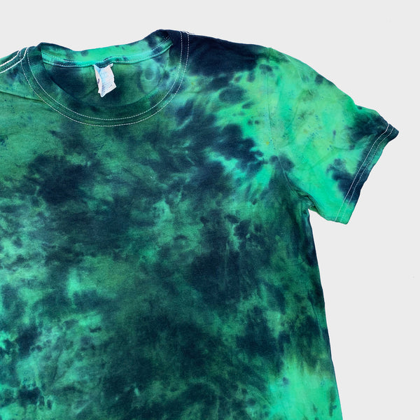 Two Tone Green Tie Dye T-shirt