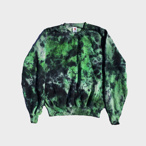 Green/Black Tie Dye Sweatshirt