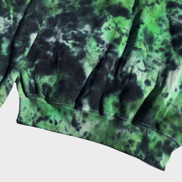 Plain Green/Black Tie Dye Sweatshirt