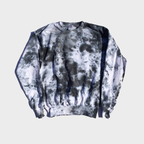 Grey/Black Tie Dye Sweatshirt