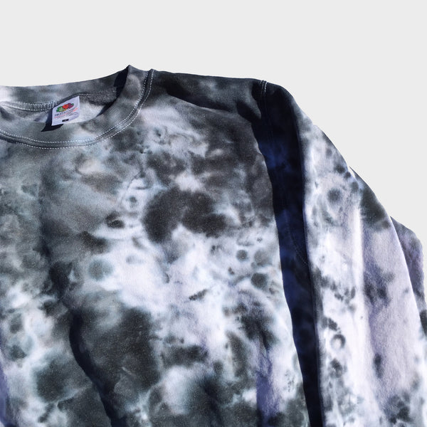 Plain Grey Tie Dye Sweatshirt