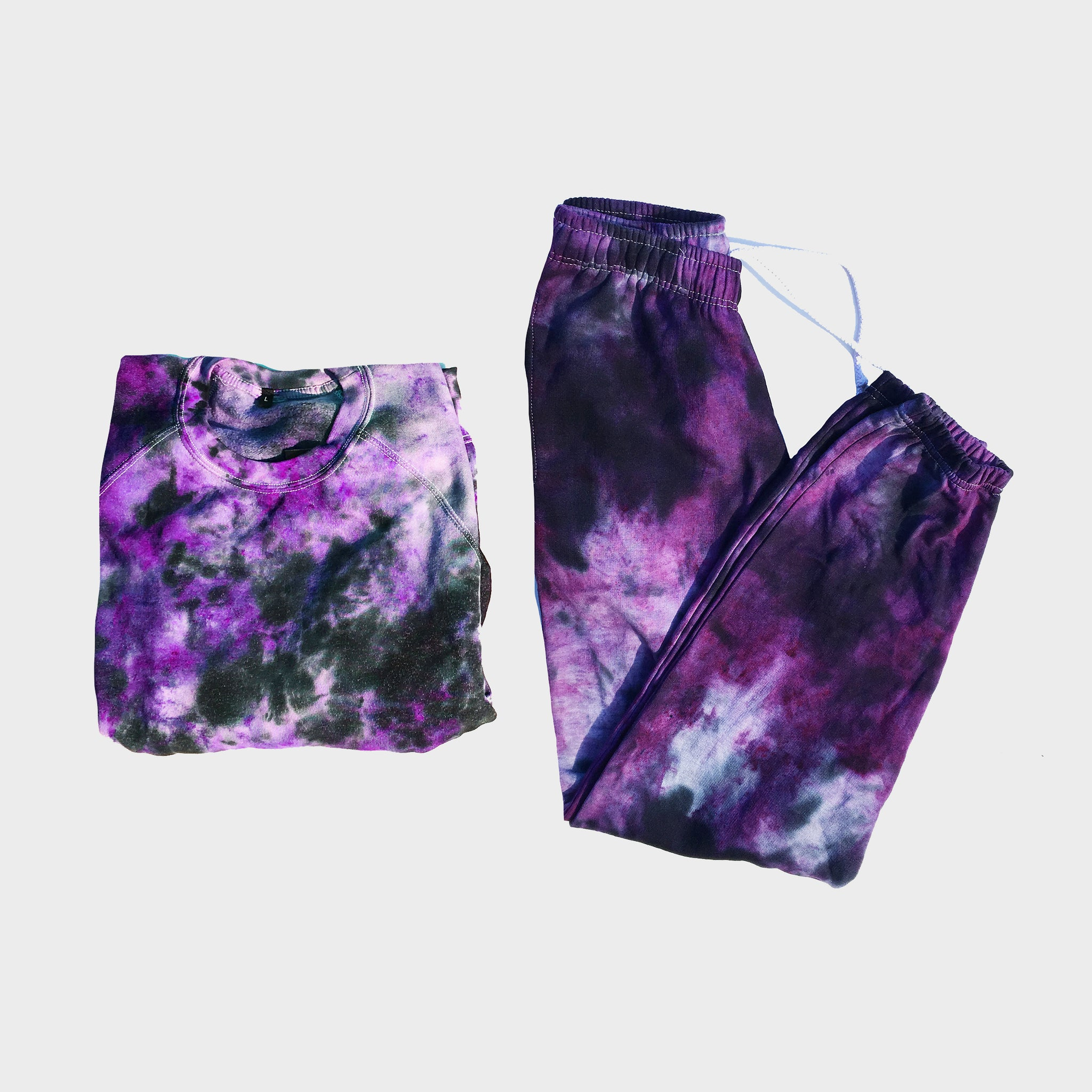Purple/Black Tie Dye Set