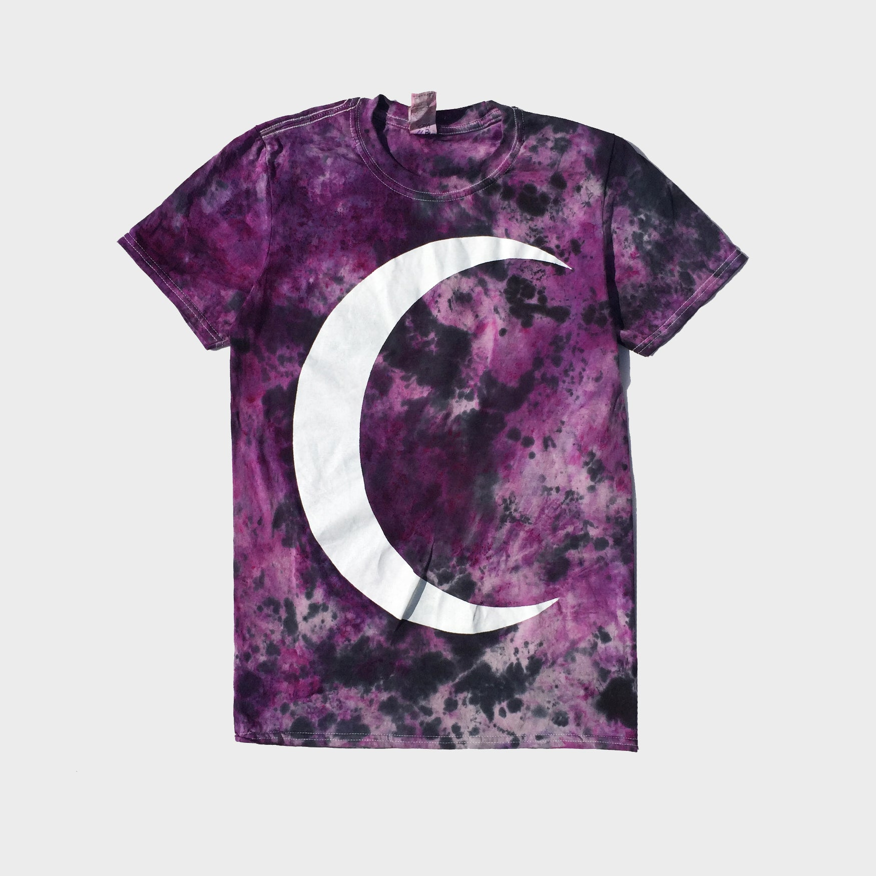 Crescent Moon Purple/Black Tie Dye T-shirt