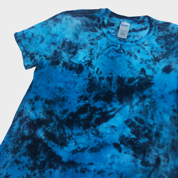 Plain Blue/Black Tie Dye T-shirt