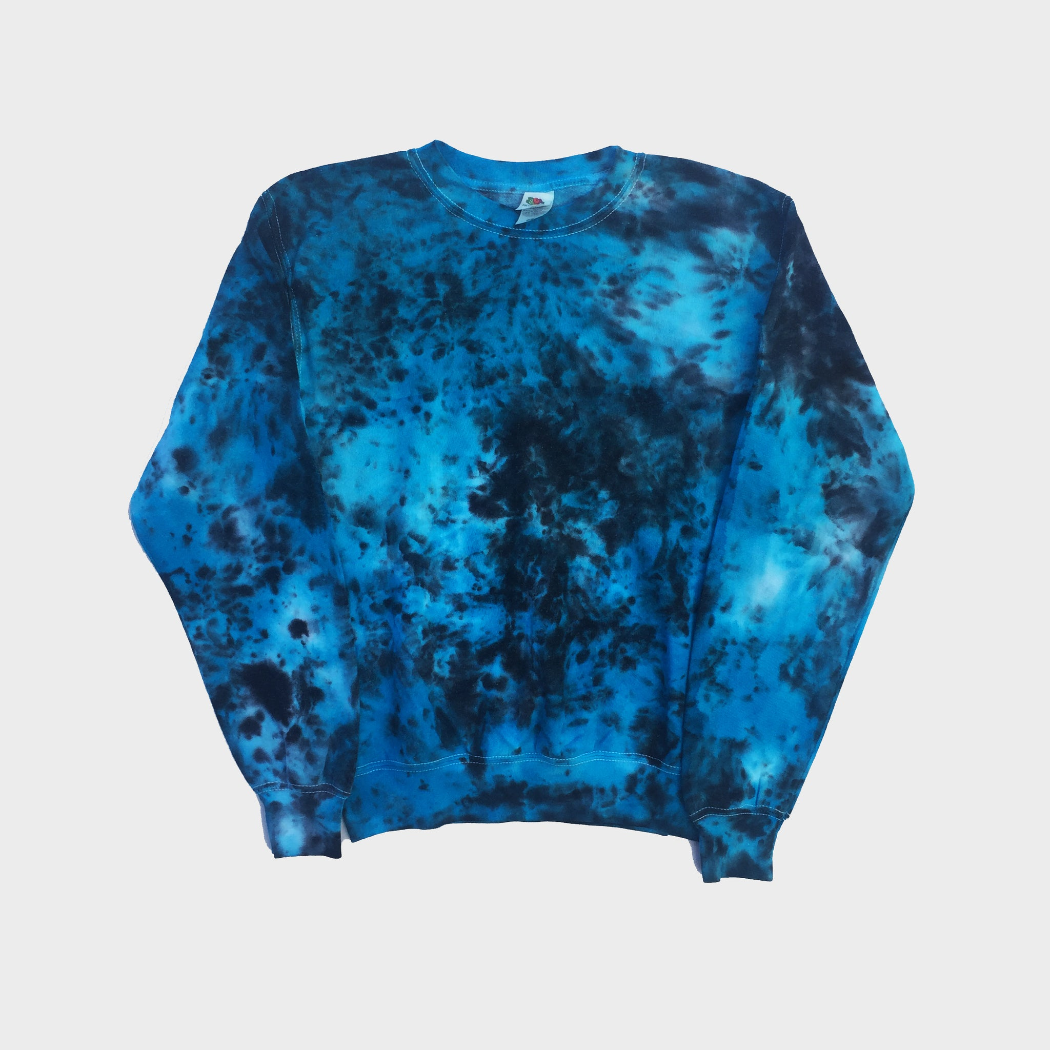Plain Blue/Black Tie Dye Sweatshirt