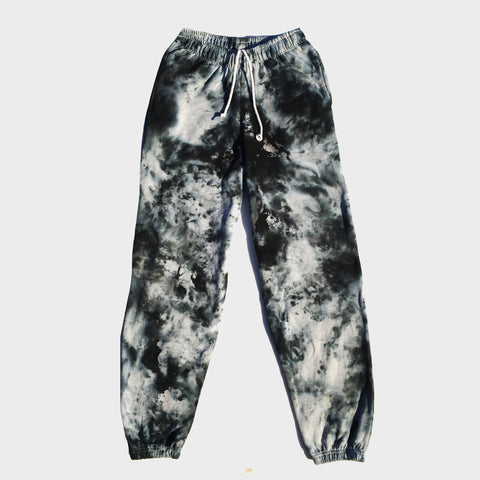 Grey/Black Tie Dye Jogging Pants (Joggers)