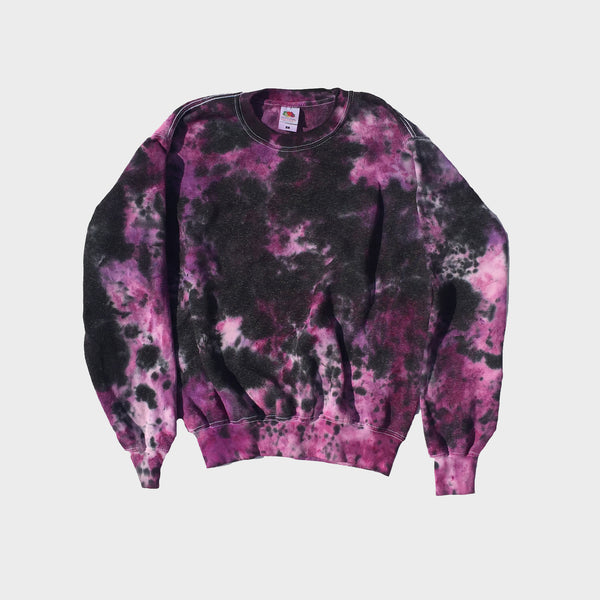 Plain Purple/Black Tie Dye Sweatshirt