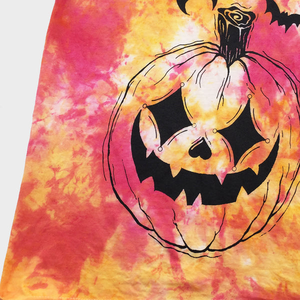 Pumpkin Harlequin Red/Yellow Tie Dye Sweatshirt